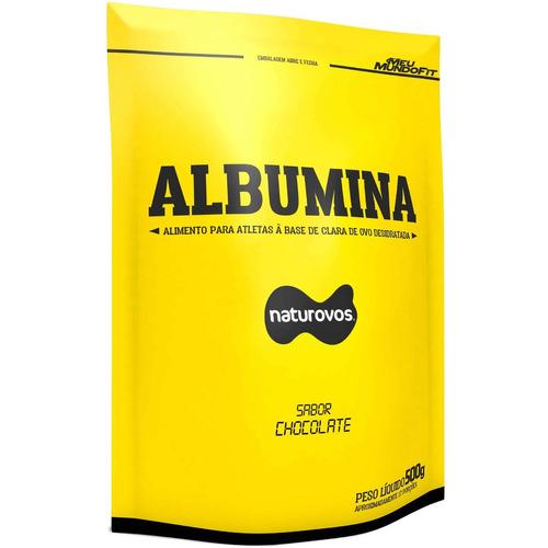 albumina pura com sabor (500g) - naturovos