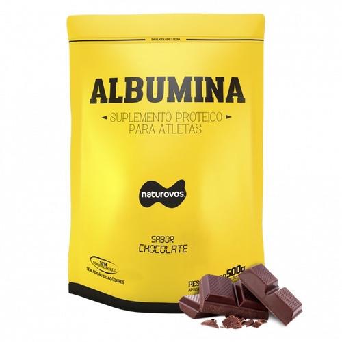 albumina pura sabor chocolate 500g - naturovos