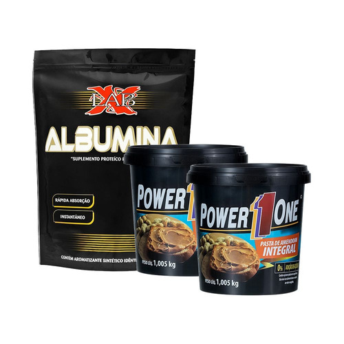 albumina x-lab + 2un pasta de amendoim power one