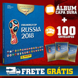 Álbum Copa Rússia 2018 Capa Dura + 100 Envelopes Pacotinhos