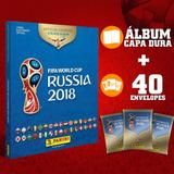 Álbum Da Copa Rússia 2018 Capa Dura + 40 Envelopes Pacotinho