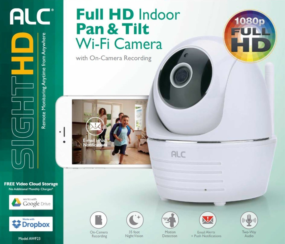 Alc Sighthd Awf23 Pan & Tilt Security Wifi Camera