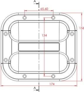 alça de caixa de som compartimento par + 1 copo nylon padrão