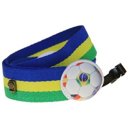 alça de nylon para câmera dslr - cores do brasil - emania