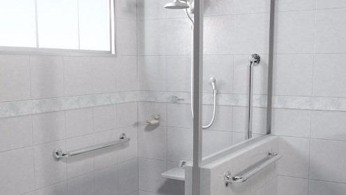 alça deficiente idoso barra apoio inox 304 banheiro 40, 60cm