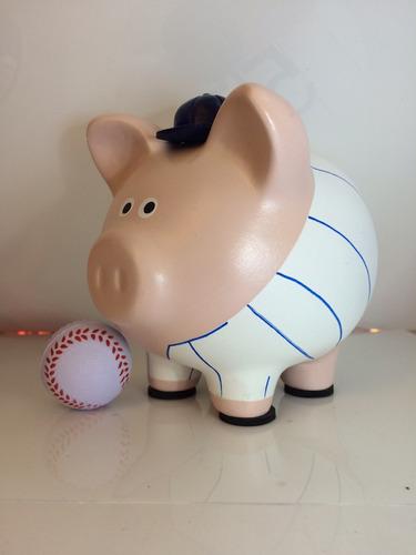 alcancia beisbolista béisbol deportes cochinito jugador