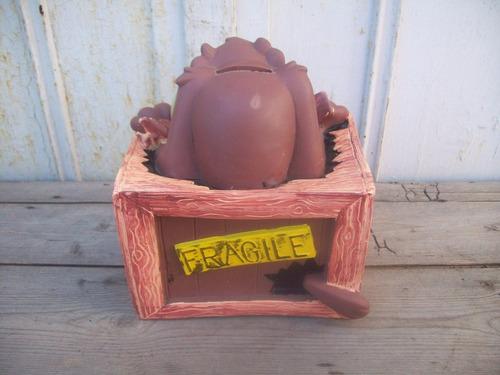 alcancia de goma demonio de tazmania warner bros 1997