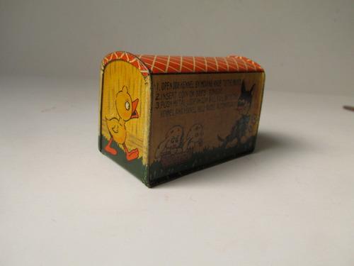 alcancia de lata años 50 vintage antigua clasica 15a