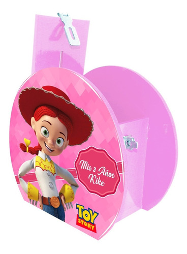 alcancía dulcero centro mesa toy story jessie personalizado
