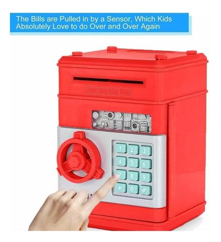 alcancía electronica caja seguridad niños atm cajero clave