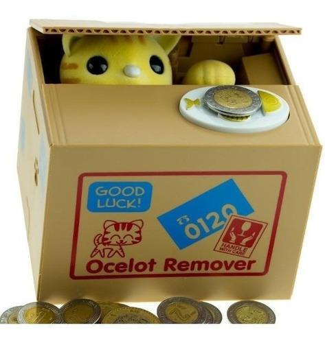 alcancía electrónica gato roba monedas con sonidos