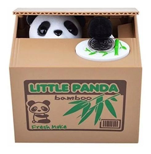 alcancia electronica panda traga monedas juguete- niños