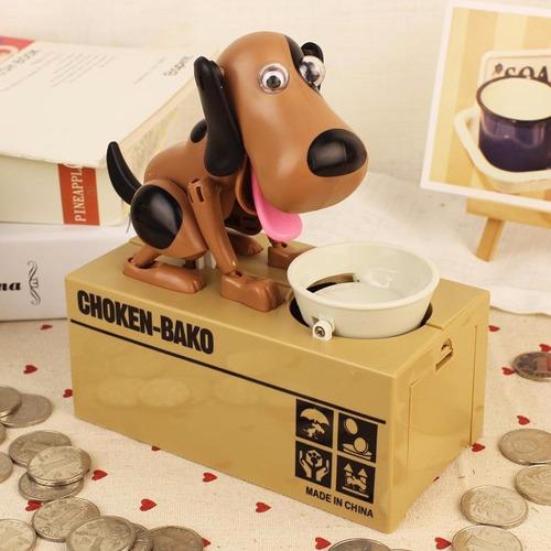 alcancía electrónica perro come monedas juguete para niños