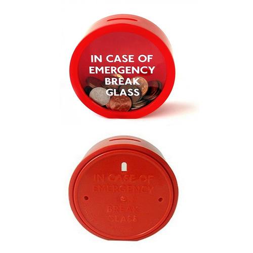 alcancía emergencia - bebop regalos - regalos originales