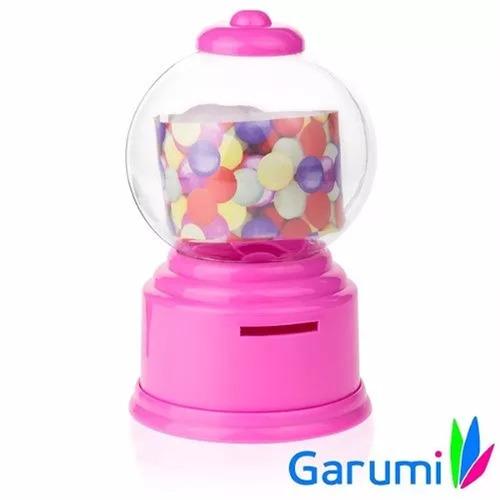 alcancia forma de maquina dispensador de dulces rosa h8043