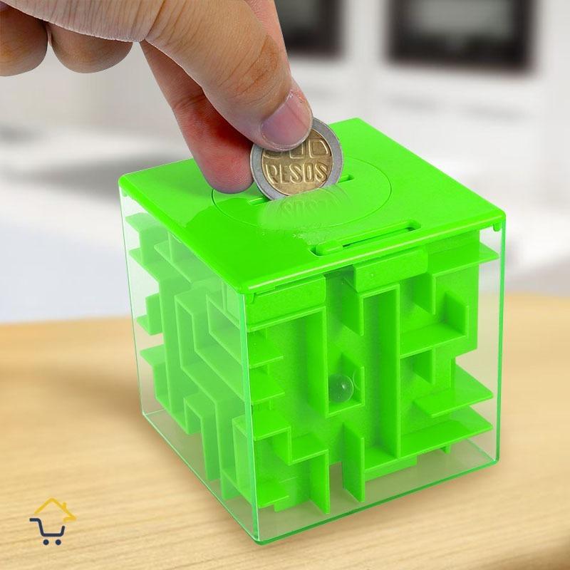 Alcancia Laberinto 3d Cubo Juego Maze Money Box Colores 19 900