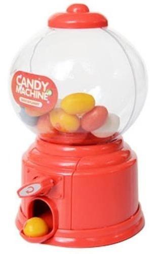 alcancía maquina de dulces rojo