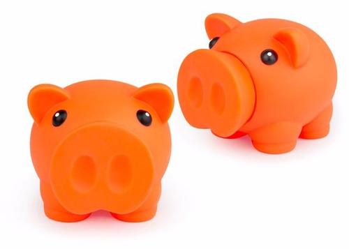 alcancia miss piggy tipo cerdito pvc medidas 9,5x7,5x7,7 cms