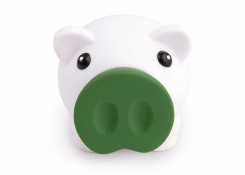 alcancia piggy blanco tipo cerdito medidas 9,5x7,5x7,7 cms