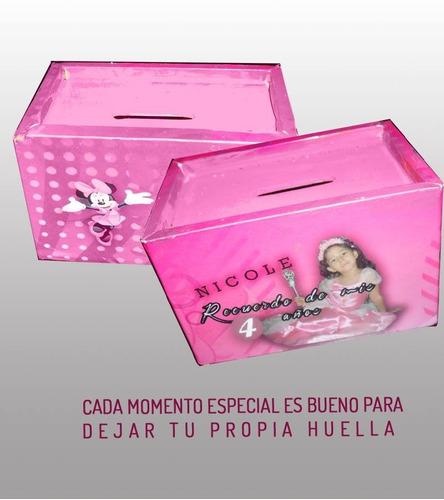 alcancias mini  personalizadas souvenirs x 25 unidades