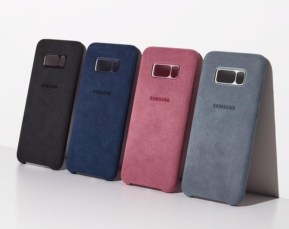 best service 43890 82b67 Alcantara Cover Protector Samsung Galaxy S8 & S8 Plus Oem A1