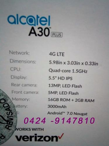alcatel a30 plus 16gb  13mpixeles  android 7.0   2gb ram