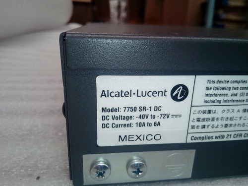 alcatel lucent 7750 sr-1 dual dc 20g system 3he00061ab
