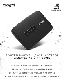 Alcatel Router Portatil Zone Link 4g- Grupotecno Jap