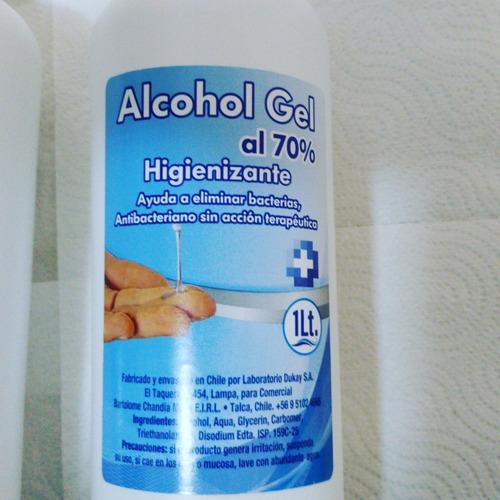 alchol gel certificado al 70 % $4200 x mayor