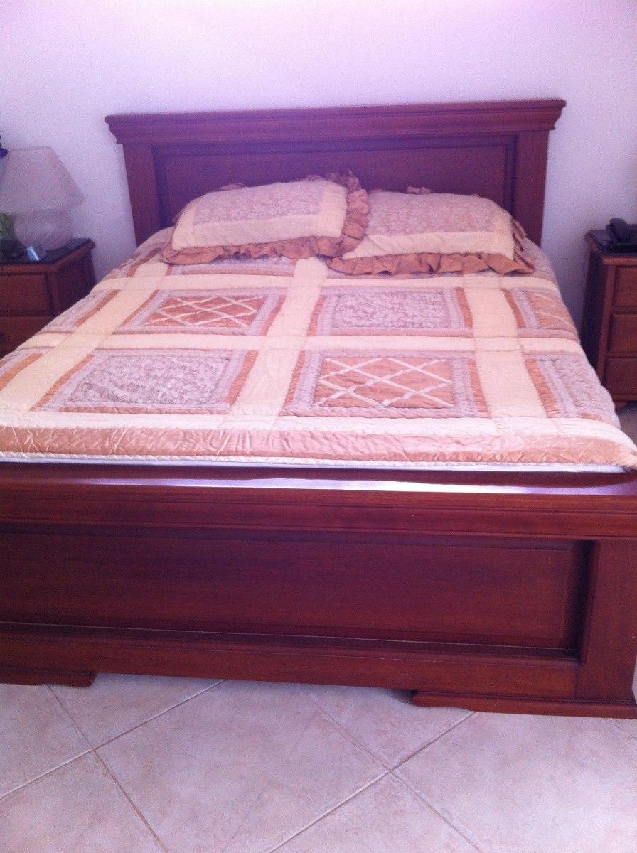 Alcoba en madera cama con mesas de noche juego de alcoba en mercado libre - Mesas de noche de madera ...