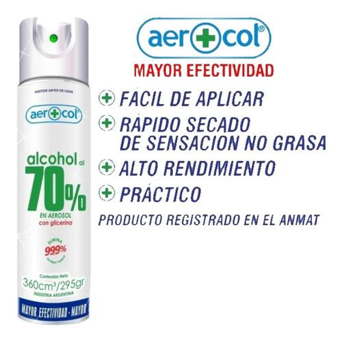 alcohol 70% aerosol 295 gr glicerina x 1 - ciudad cotillón