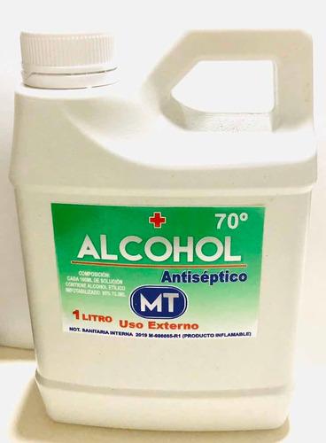 alcohol 70% anti séptico 1/2 litro