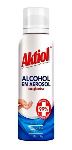 alcohol aktiol spray glicerina 143ml - barata lagolosineria