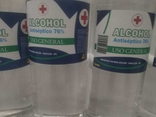 alcohol al 76% con registro