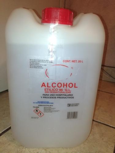 alcohol al 96  20 lts. alta calidad