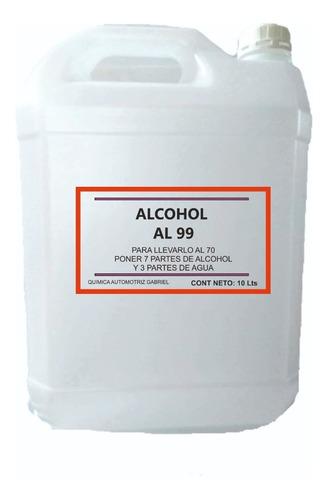 alcohol al 99, sellado de fabrica bidones de 10 litros