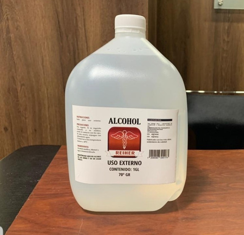 alcohol anticeptico 70 gr  1 gl  marca reiher (4.000 ml)