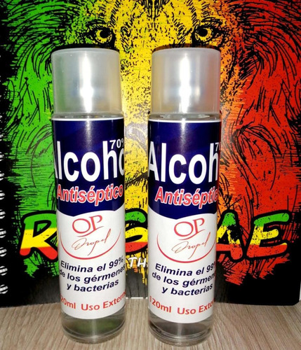 alcohol antiséptico 120 ml al 70%