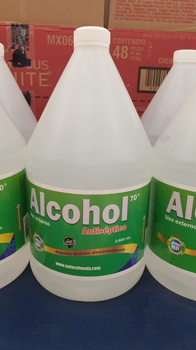 alcohol antiséptico 70* galon 3.800 ml