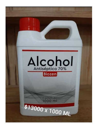 alcohol antiséptico. 70%. registro invima.