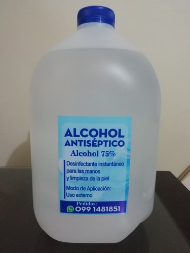 alcohol antiséptico 75°