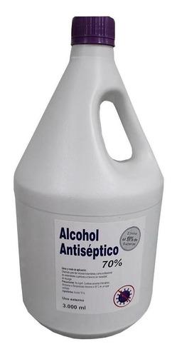 alcohol antiséptico a el 70%