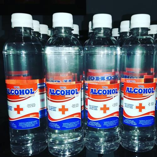 alcohol antiséptico al 70% frasco de 500ml