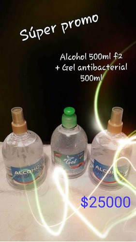 alcohol antiseptico y gel antibacterial