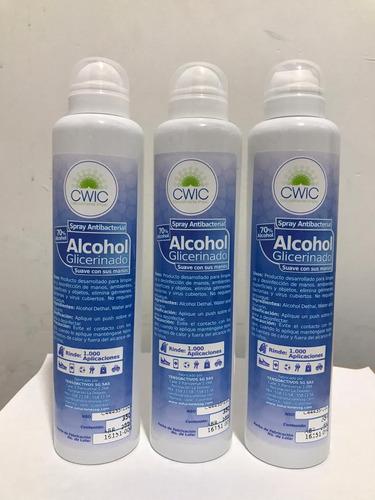 alcohol antiséptico y glicerinado