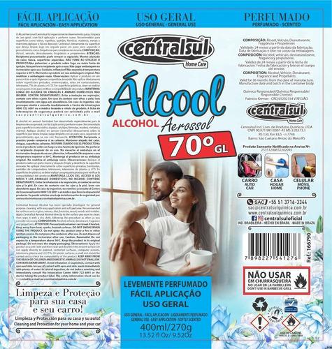 alcohol desinfectante centralsul 400ml x1 und