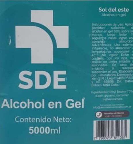 alcohol en gel 60ml pack x 50 unidades