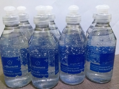 alcohol en gel influencia anti bacterial neutro 250 g. x 5