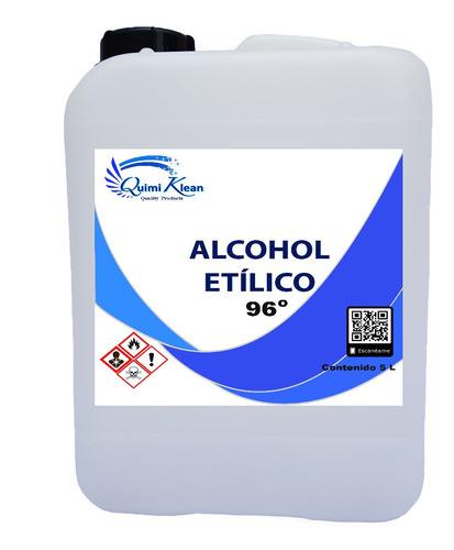 alcohol etílico 96 grados, 5 litros quimiklean