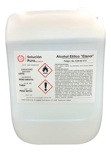 alcohol etílico puro de caña 96° gl 20 l. meses sin interes
